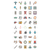 50 Healthcare Line Multicolor Filled Icons - Preview - IconBunny