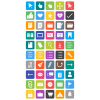 50 Interface Flat Round Corner Icons - Preview - IconBunny