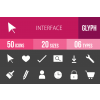 50 Interface Glyph Inverted Icons - Overview - IconBunny