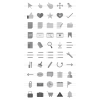 50 Interface Greyscale Icons - Preview - IconBunny