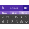 50 Interface Line Inverted Icons - Overview - IconBunny