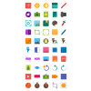50 Picture Editing Flat Multicolor Icons - Preview - IconBunny