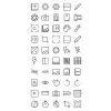 50 Picture Editing Line Icons - Preview - IconBunny