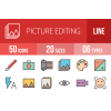 50 Picture Editing Line Multicolor Filled Icons - Overview - IconBunny