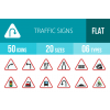 50 Traffic Signs Flat Multicolor Icons - Overview - IconBunny