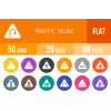 50 Traffic Signs Flat Round Icons - Overview - IconBunny