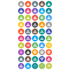50 Traffic Signs Flat Round Icons - Preview - IconBunny