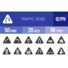 50 Traffic Signs Glyph Icons - Overview - IconBunny