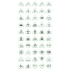 50 Traffic Signs Line Green & Black Icons - Preview - IconBunny