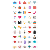 50 Wedding Flat Multicolor Icons - Preview - IconBunny