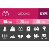 50 Wedding Glyph Inverted Icons - Overview - IconBunny