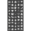 50 Wedding Glyph Inverted Icons - Preview - IconBunny