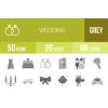 50 Wedding Greyscale Icons - Overview - IconBunny