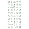 50 Wedding Line Green & Black Icons - Preview - IconBunny