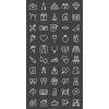 50 Wedding Line Inverted Icons - Preview - IconBunny