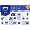2070 Glyph Icons Bundle - Overview - IconBunny