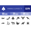 60 Animals & Insects Glyph Icons - Overview - IconBunny