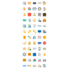 60 Banking Flat Multicolor Icons - Preview - IconBunny