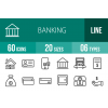 60 Banking Line Icons - Overview - IconBunny