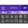 60 Banking Line Inverted Icons - Overview - IconBunny