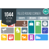1044 Flat Round Corner Icons Bundle - Overview - IconBunny