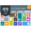 2070 Flat Round Corner Icons Bundle - Overview - IconBunny