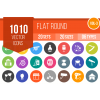1010 Flat Round Icons Bundle - Overview - IconBunny