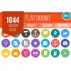 1044 Flat Round Icons Bundle - Overview - IconBunny