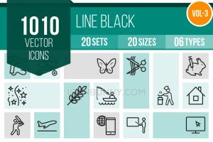 1010 Line Icons Bundle - Overview - IconBunny