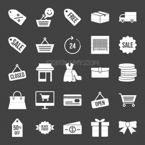 25 Black Friday Glyph Inverted Icons - Preview - IconBunny