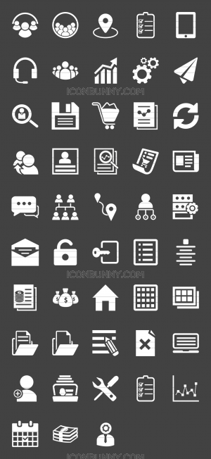 48 Admin Dashboard Glyph Inverted Icons - Preview - IconBunny