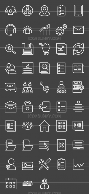 48 Admin Dashboard Line Inverted Icons - Preview - IconBunny