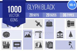 1000 Glyph Icons Bundle - Overview - IconBunny
