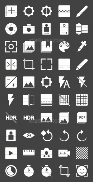 50 Picture Editing Glyph Inverted Icons - Preview - IconBunny
