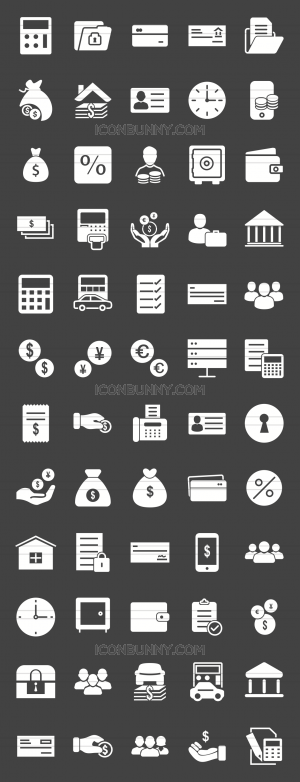 60 Banking Glyph Inverted Icons - Preview - IconBunny