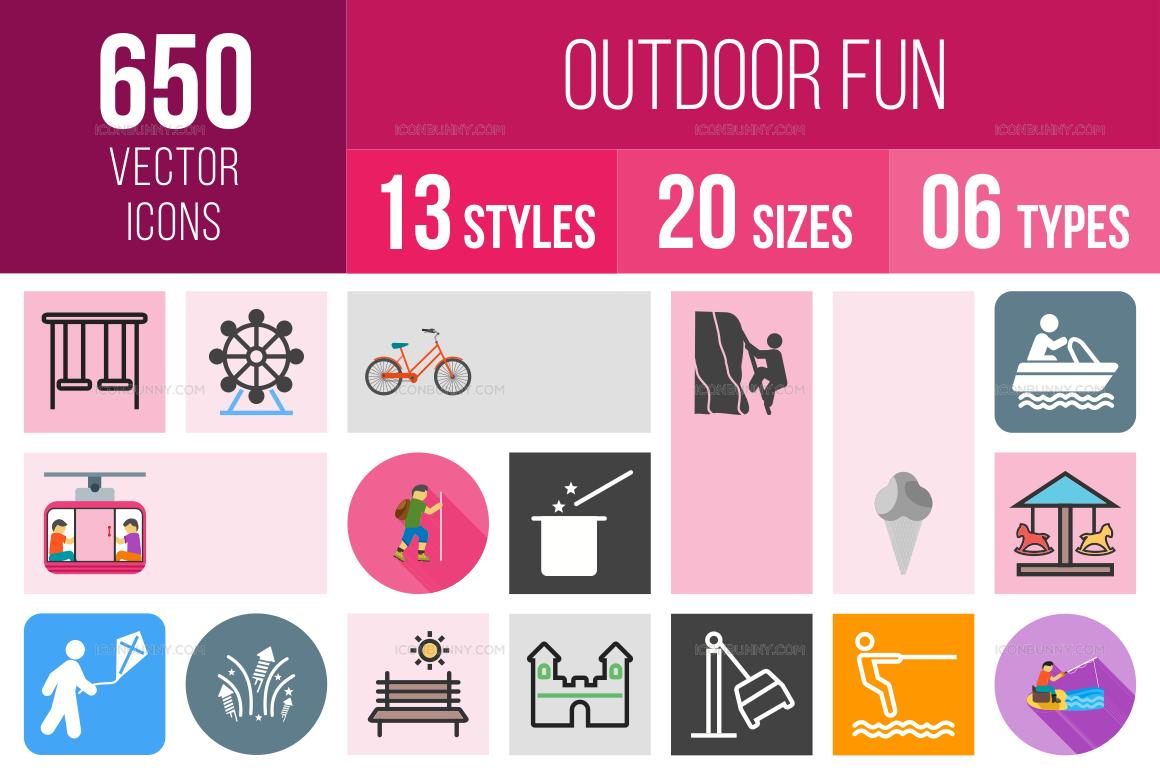 Outdoor Fun Icons Bundle