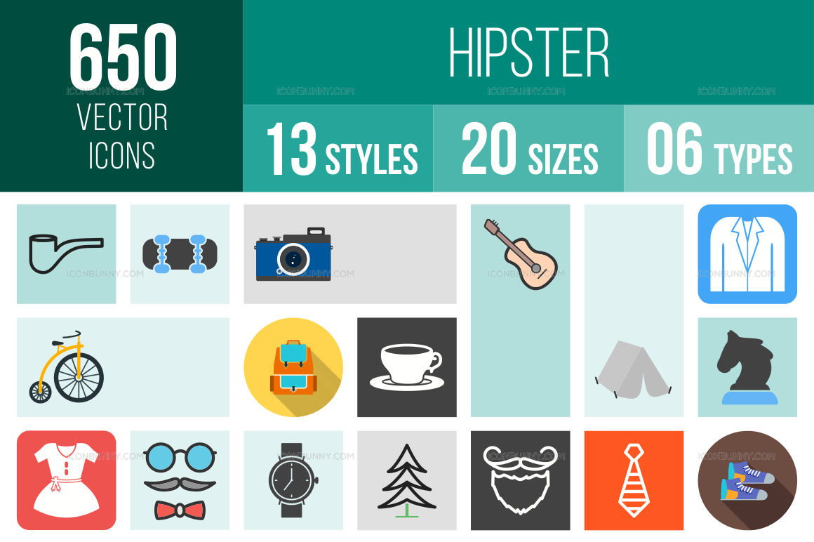 Hipster Icons Bundle