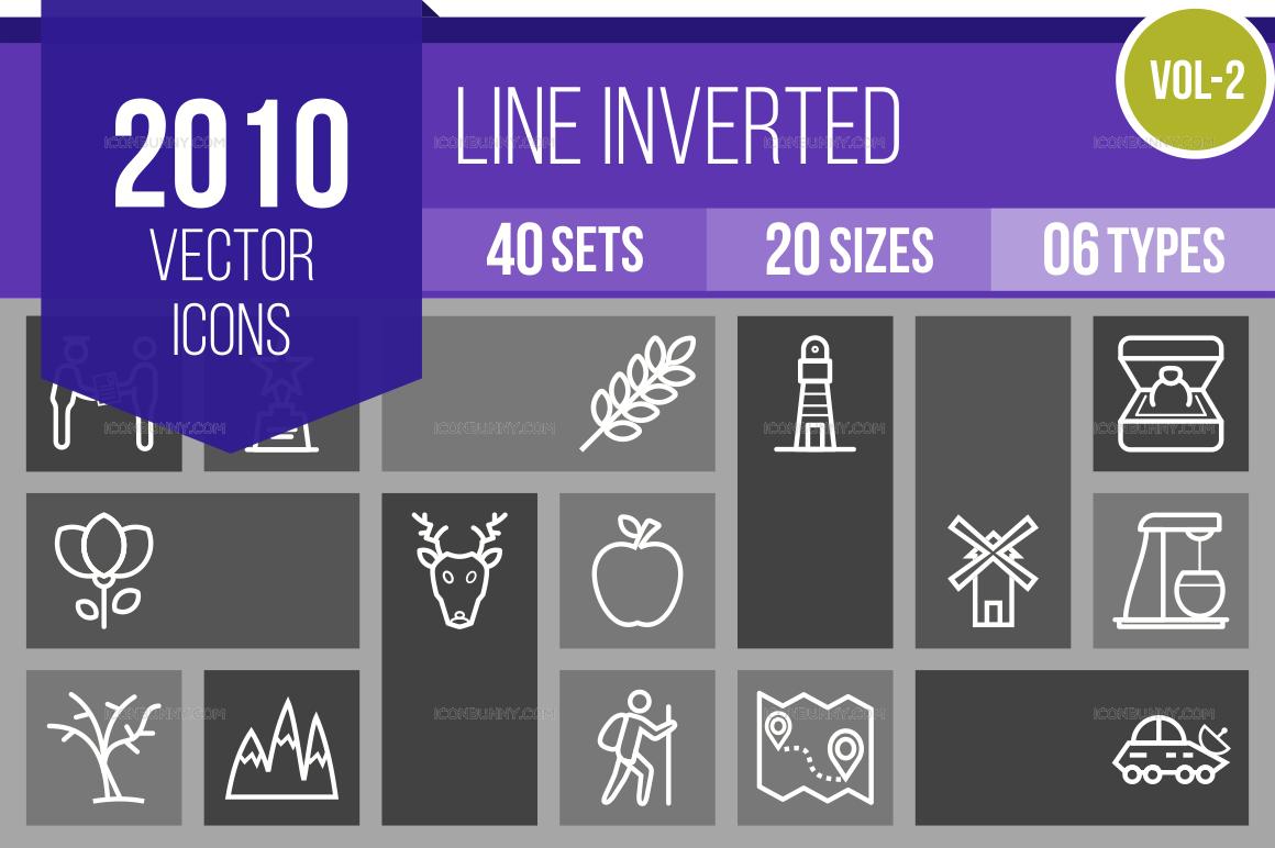 2000+ Line Inverted Icons Bundle (V-2)
