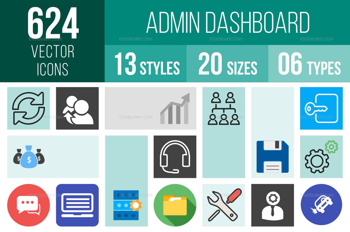 Admin Dashboard Icons Bundle
