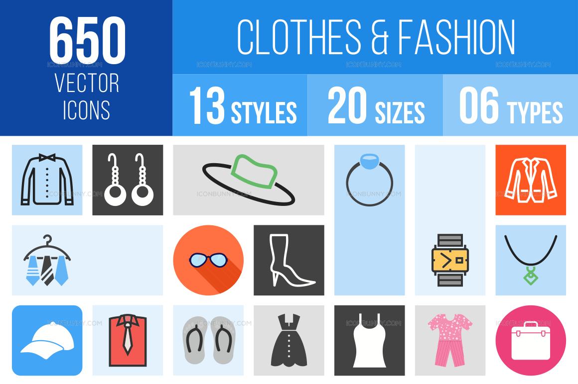 Clothes & Fashion Icons Bundle