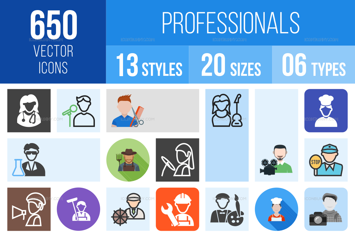 Professionals Icons Bundle
