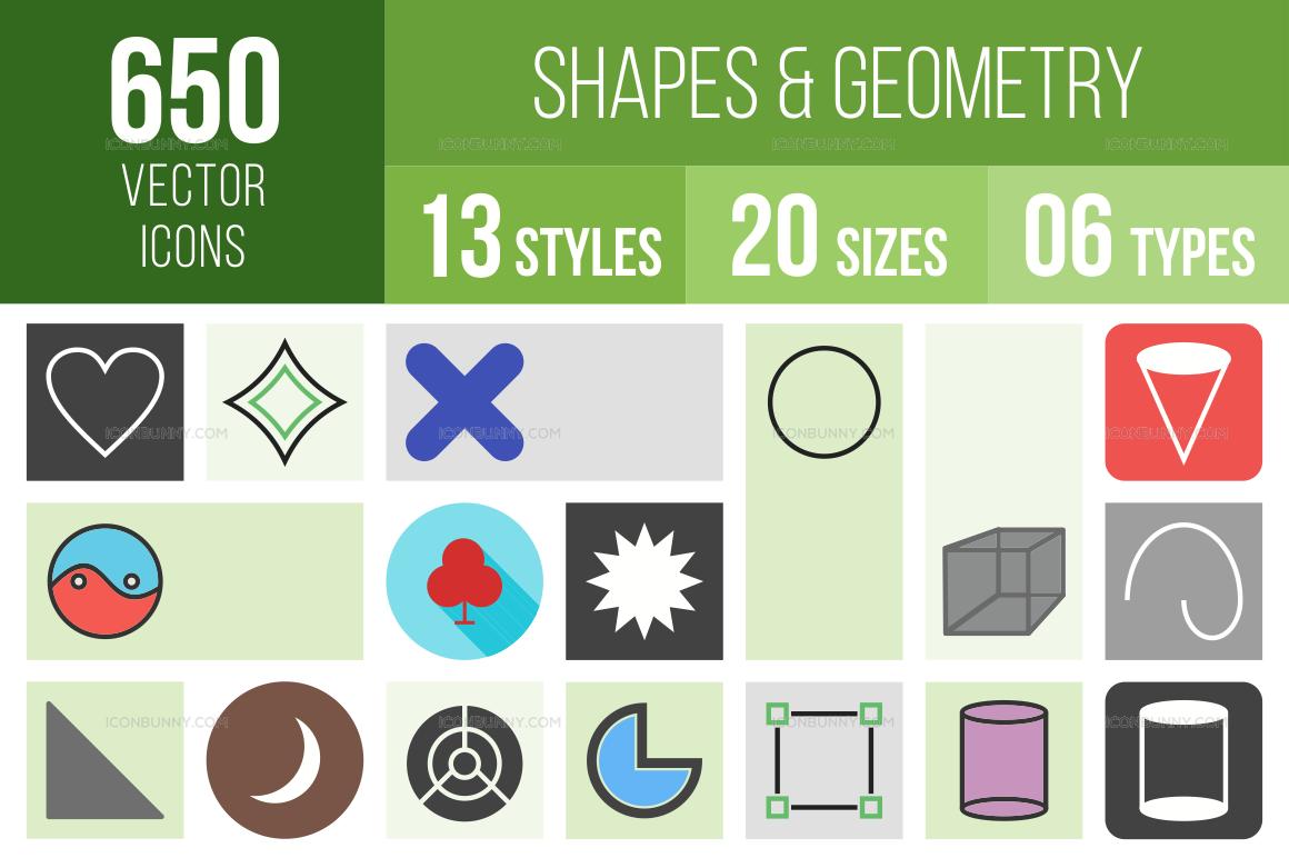 Shapes & Geometry Icons Bundle
