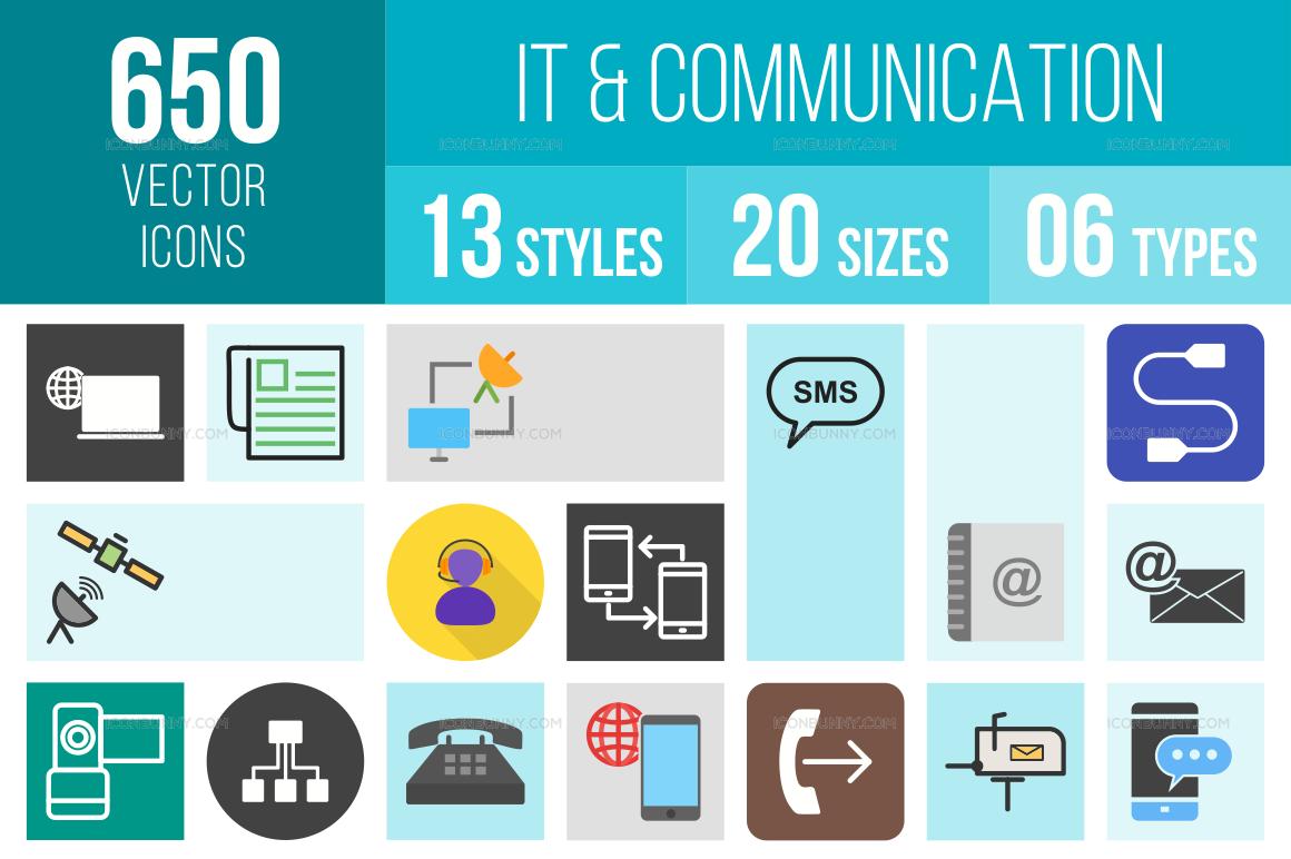 IT & Communication Icons Bundle