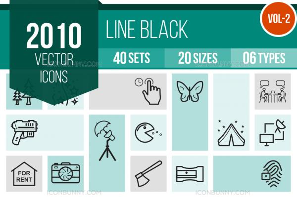 2010 Line Icons Bundle - Overview - IconBunny