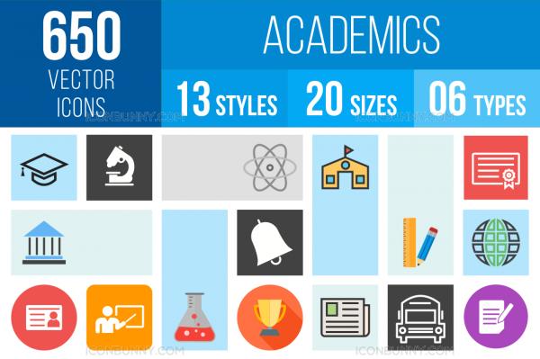 Academics Icons Bundle - Overview - IconBunny