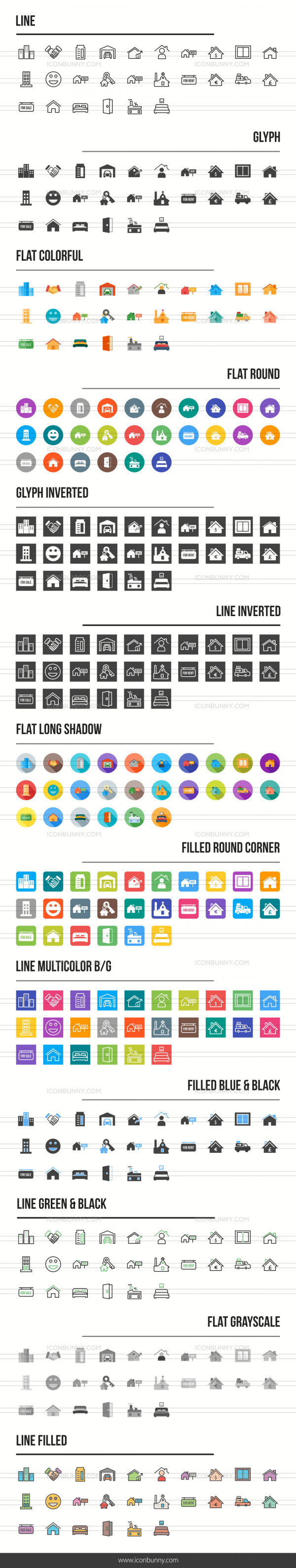 Real Estate Icons Bundle - Preview - IconBunny