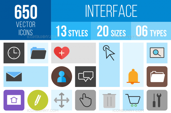 Interface Icons Bundle - Overview - IconBunny