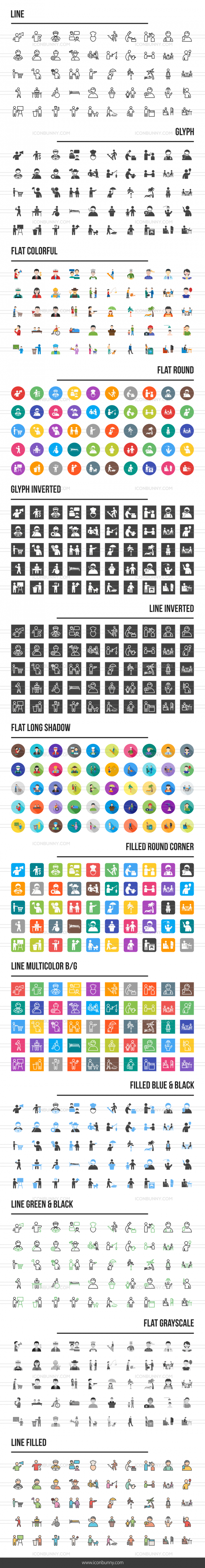Activities Icons Bundle - Preview - IconBunny