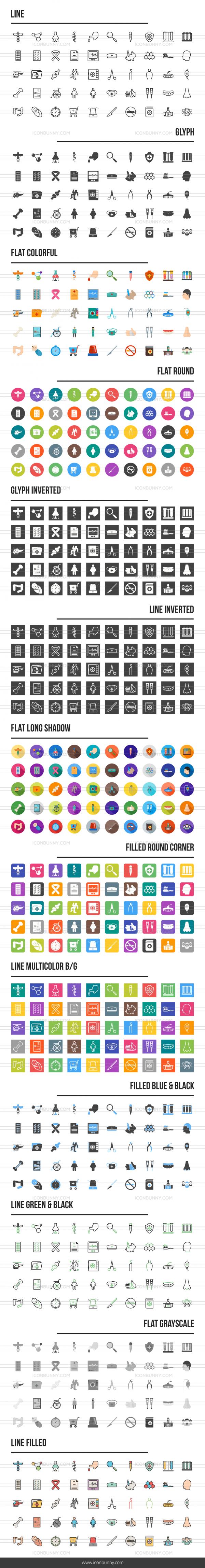 Healthcare Icons Bundle - Preview - IconBunny