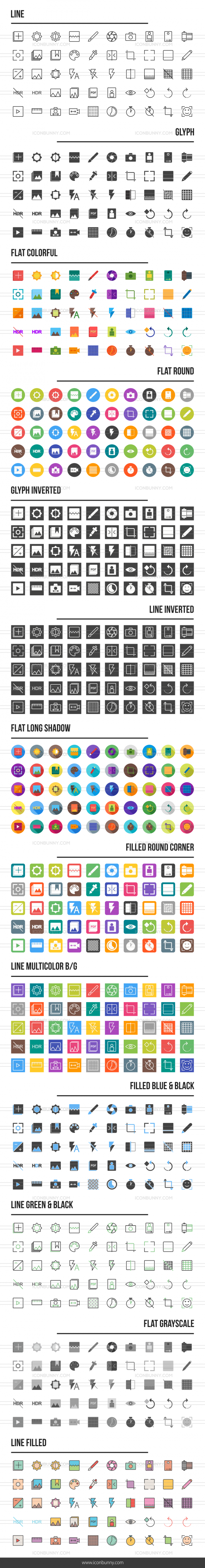 Picture Editing Icons Bundle - Preview - IconBunny